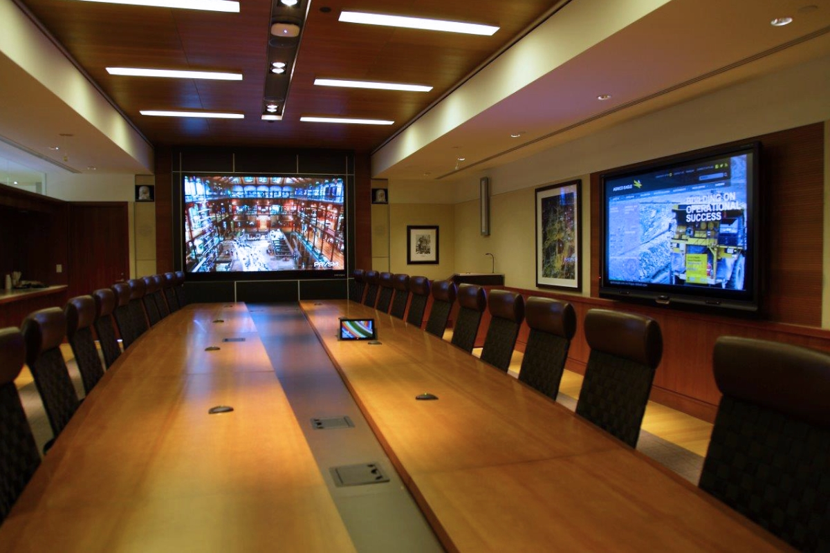 Boardrooms for mid to executive level business meetings with video conferencing and collaborative applications