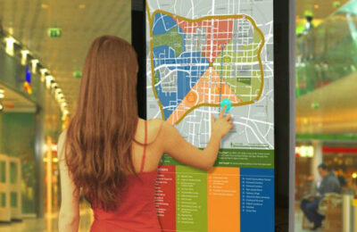 noslar ti, interactive signage, touch screen, business solutions, technology
