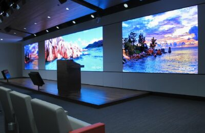 video wall, Noslar TI, Houston Texas, monitors, screens,